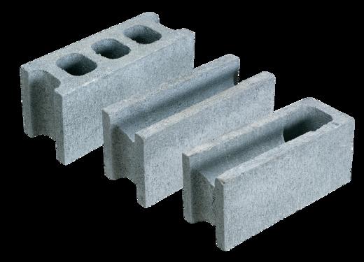 コンクリートブロックA種(08)、B種(12)、C種(16)